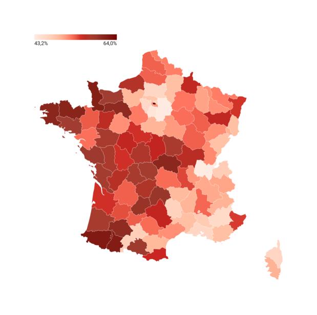 Carte de France de l'évolution de la vaccination par département (infographie)