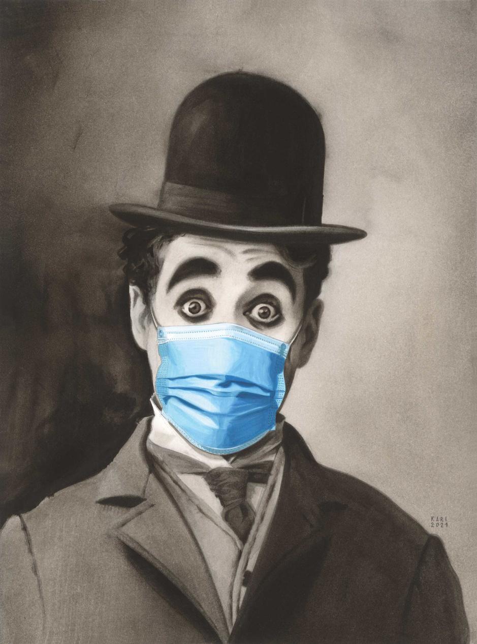 Cartoon van de week: Charlie Chaplins 'The Kid' blaast 100 kaarsjes uit