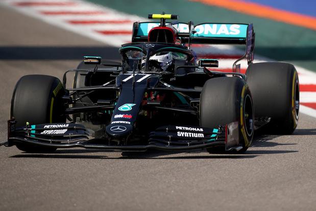 Valtteri Bottas le plus rapide lors de la première séance d'essais libres