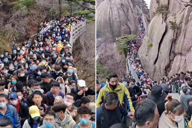 Des lieux touristiques déjà pris d'assaut en Chine (photos)