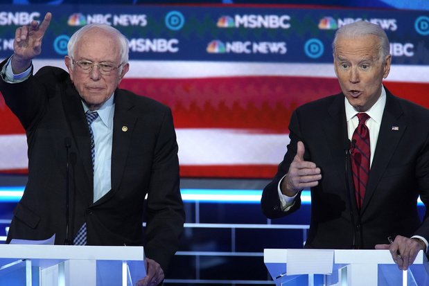 Joe Biden aborde en favori son premier duel avec Bernie Sanders