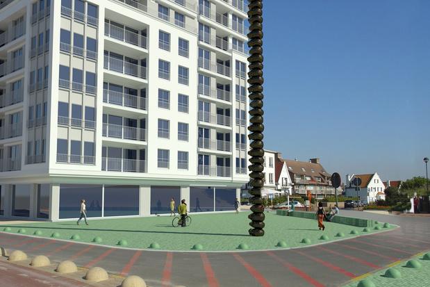 Une sculpture de 22 mètres de haut installée sur la digue à Knokke