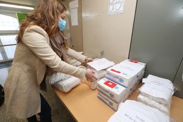 850.000 masques distribués aux écoles de l'enseignement obligatoire ce dimanche