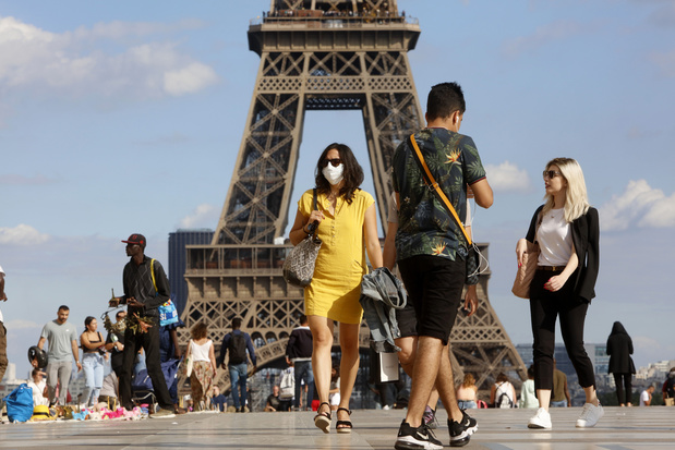 La zone orange étendue à l'Île de France, dont Paris, et au Pays de la Loire