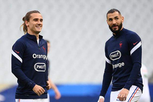 Rood alarm bij Frankrijk? Griezmann en Benzema afwezig op training