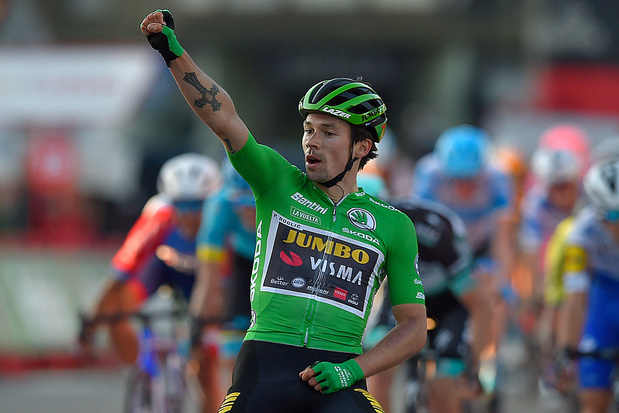 Vuelta: Roglic pakt derde etappezege en leiderstrui