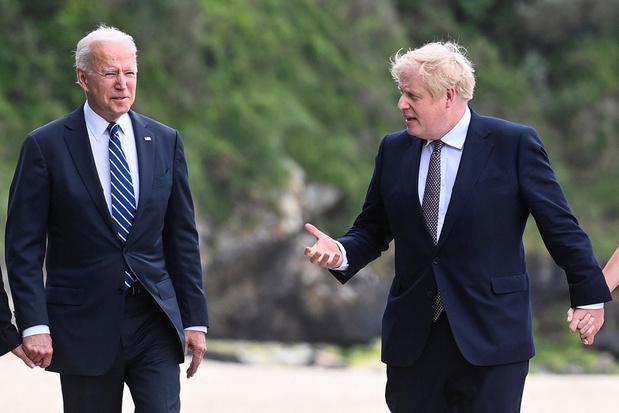 Johnson heeft 'gemeenschappelijke visie' met Biden over Noord-Ierland