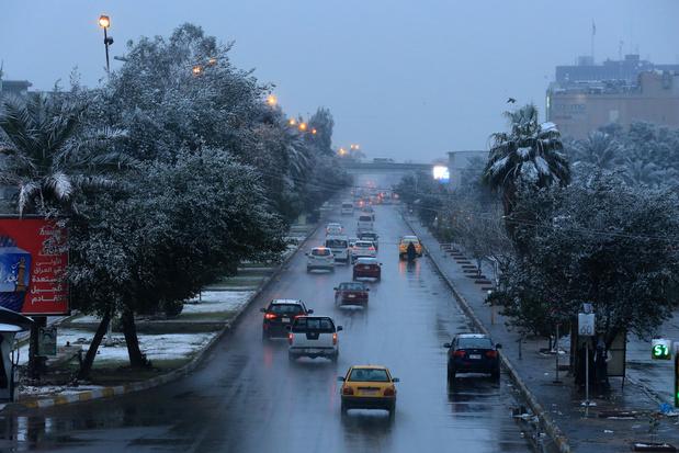 Bagdad se réveille sous un rarissime manteau blanc