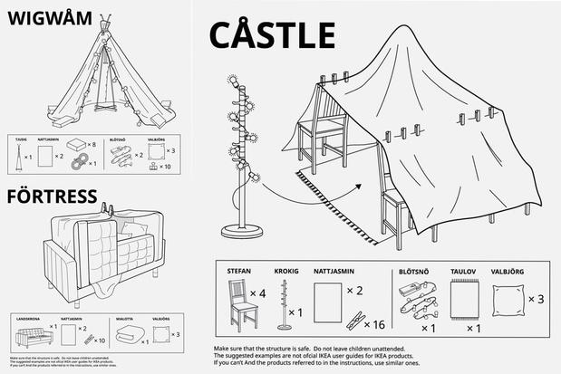 IKEA vous apprend à faire des cabanes à la maison