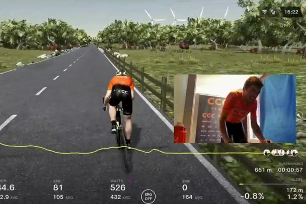 Greg Van Avermaet, vainqueur du Tour des Flandres... virtuel