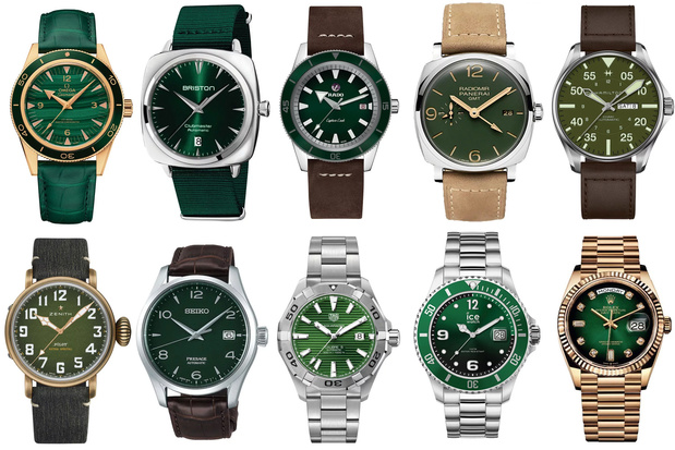 Au rayon horlogerie, green is the new blue