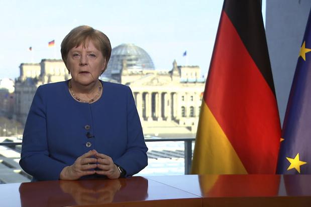 """Coronavirus: """"le plus grand défi"""" pour l'Allemagne depuis 1945"""