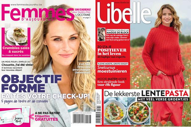 Les hebdomadaires Femmes d'Aujourd'hui et Libelle progressent