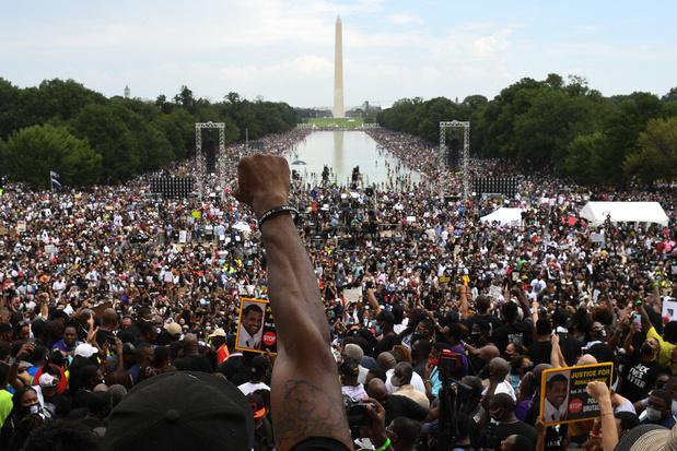 """""""Ça suffit"""": à Washington, les manifestants antiracistes exigent l'égalité"""