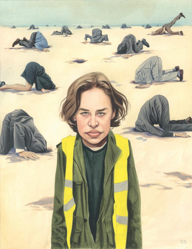 Karl remporte le prix Press Cartoon avec un dessin d'Anuna De Wever