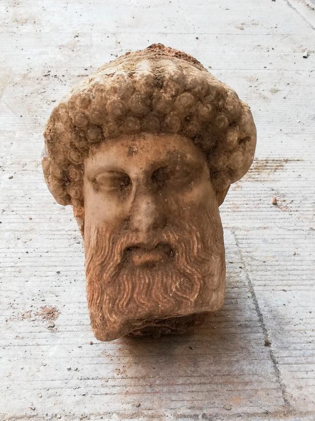 Hoofd van Griekse god Hermes gevonden in Athene