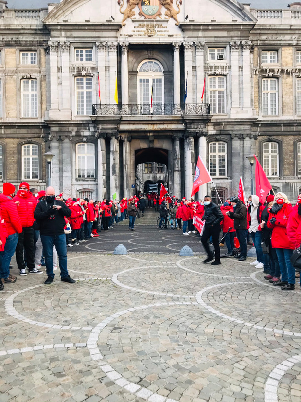 Journée d'actions dans plusieurs entreprises du pays, organisée par le front commun syndical