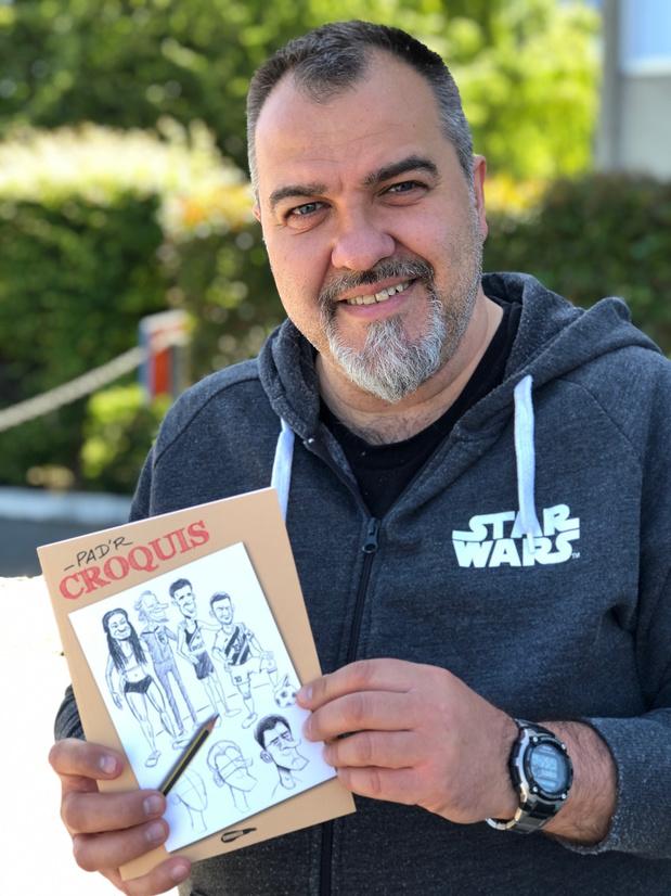 """Pad'R nous apprend à croquer les grands sportifs belges: """"Si tu sais dessiner un arbre, tu sais dessiner Fellaini!"""""""