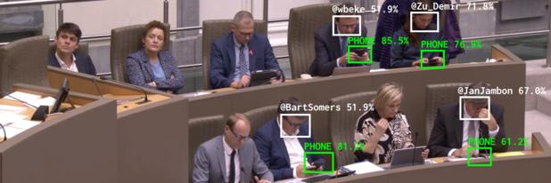 Kunstproject toont middels AI hoe vaak Vlaamse politici op hun gsm zitten