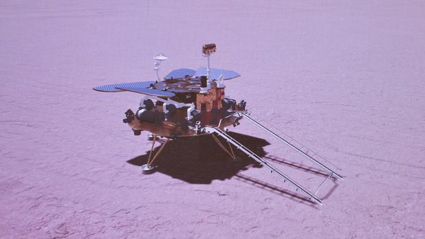 """""""Nihao Mars"""": la Chine réussit à poser un robot sur la planète rouge"""