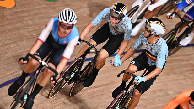 Cyclisme sur piste: Kenny De Ketele et Robbe Ghys au pied du podium du Madison, l'or pour les Danois