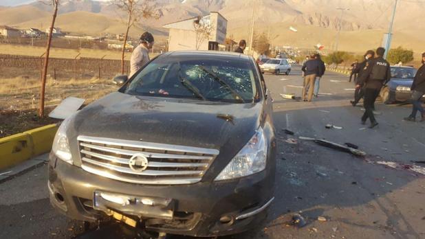 Iraanse atoomfysicus gedood door 'onbemand machinegeweer'