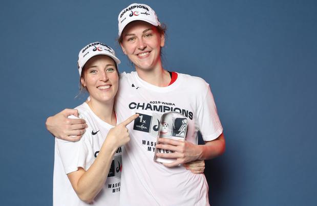 Emma Meesseman en Kim Mestdagh hebben met Washington Mystics eerste WNBA-titel vast