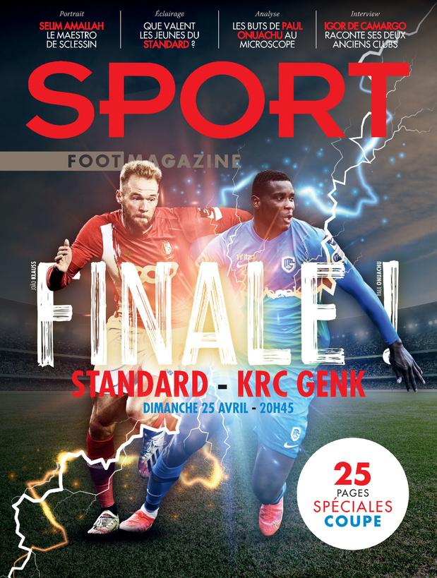 Au menu de Sport/Foot Magazine: 25 pages spéciales Coupe de Belgique