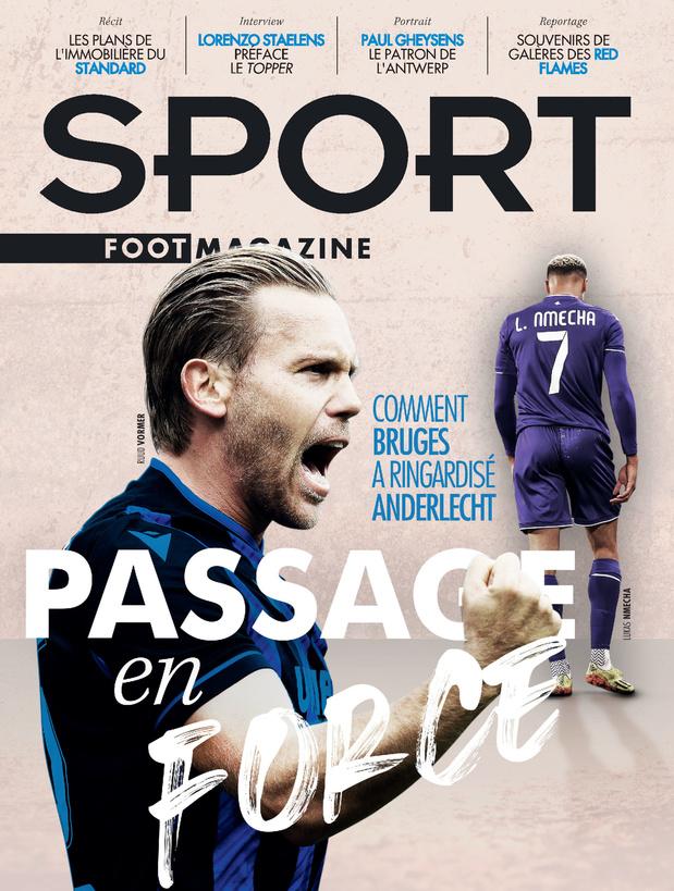 Au menu de Sport/Foot Magazine: la supériorité de Bruges sur Anderlecht et l'Immobilière du Standard