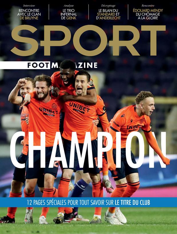 Au menu de Sport/Foot Mag: Bruges champion et les secrets de Kevin De Bruyne