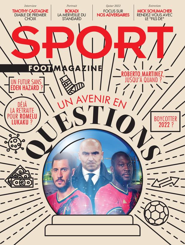 Au menu de Sport/Foot Magazine: l'avenir de Martínez chez les Diables et l'entretien de Castagne