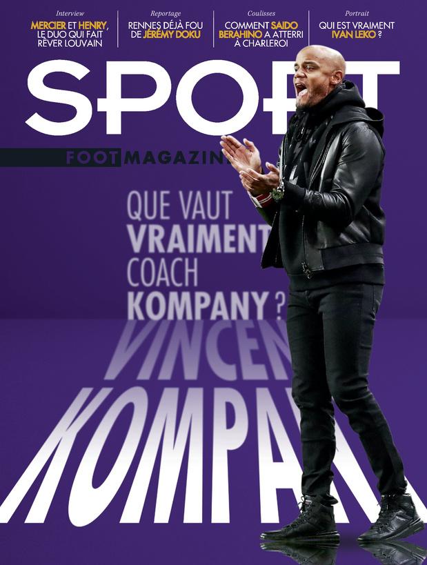 Au menu de Sport/Foot Magazine: Kompany, Leko, Doku, Berahino et Sclessin