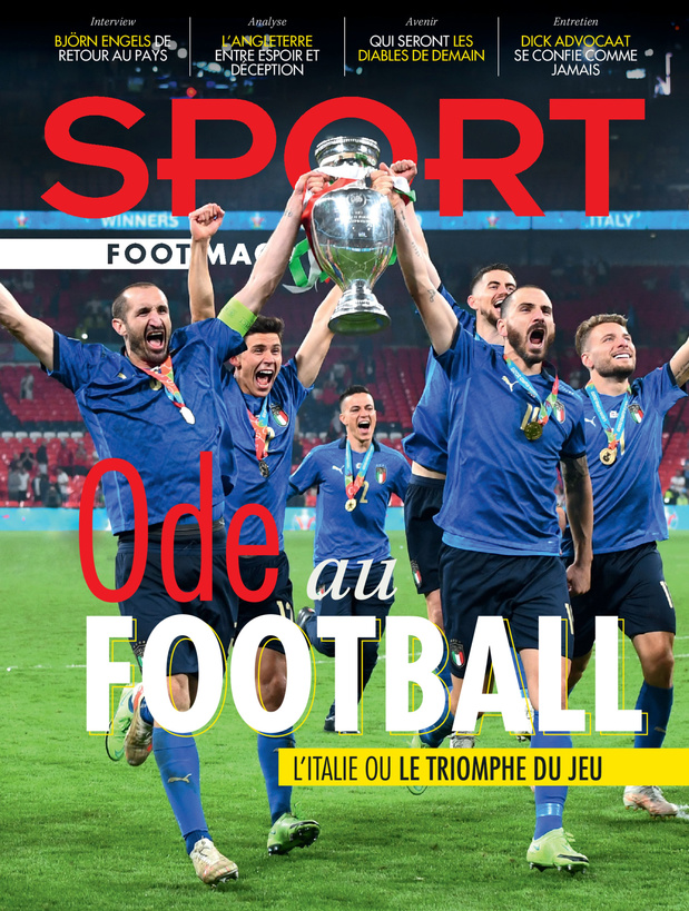 Au menu de Sport/Foot Mag: l'Italie ou le triomphe du jeu & les futurs Diables
