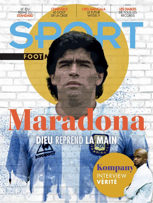 Au menu de Sport/Foot Magazine: Maradona, Kompany et les Diables