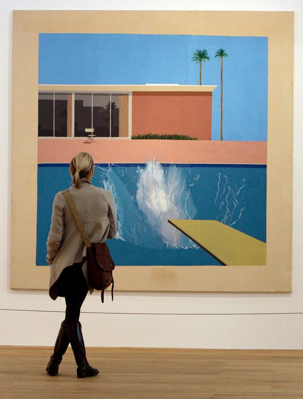 """L'iconique """"Splash"""" de David Hockney vendu aux enchères"""