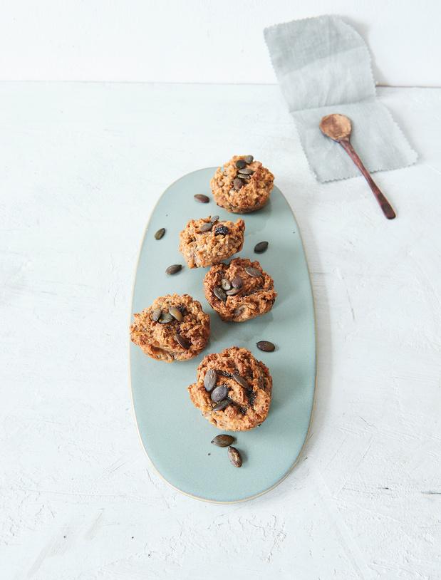 Recette des Muffins sans sucre aux graines de courge