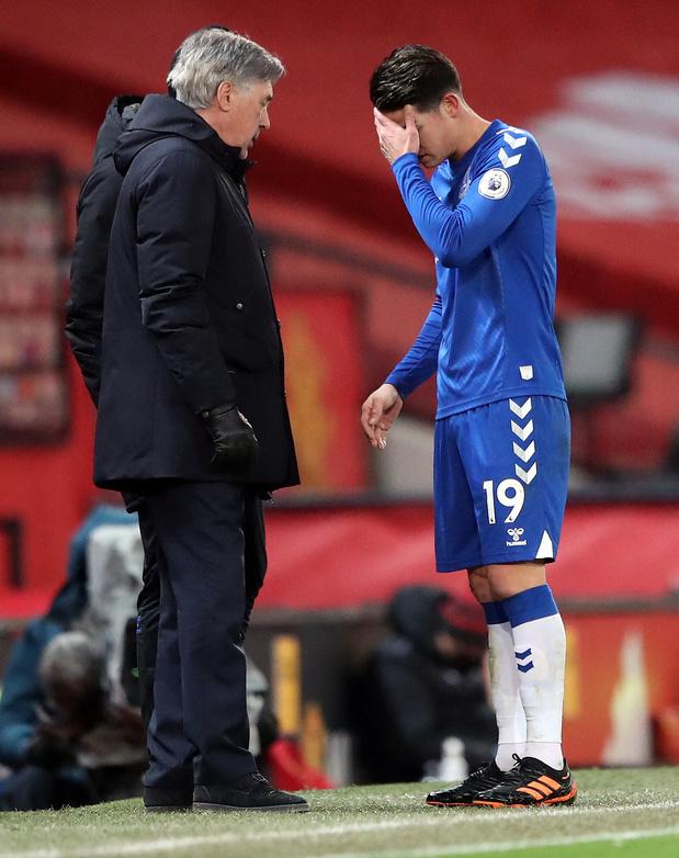 Ancelotti et James Rodriguez pour changer l'image d'Everton