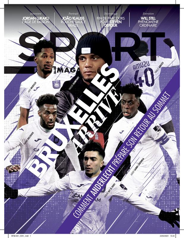 Au menu de Sport/Foot Magazine: les ambitions d'Anderlecht, João Klauss & Jordan Lukaku