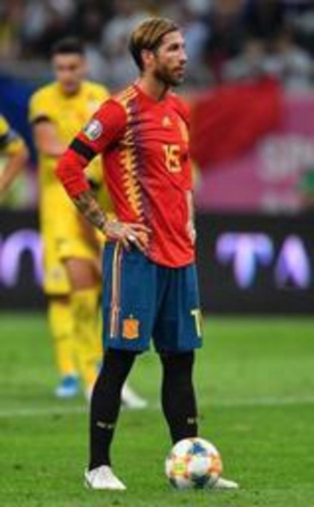 Qualifications Euro 2020 - Une 167e sélection avec l'Espagne pour Sergio Ramos, qui égale le record de Casillas