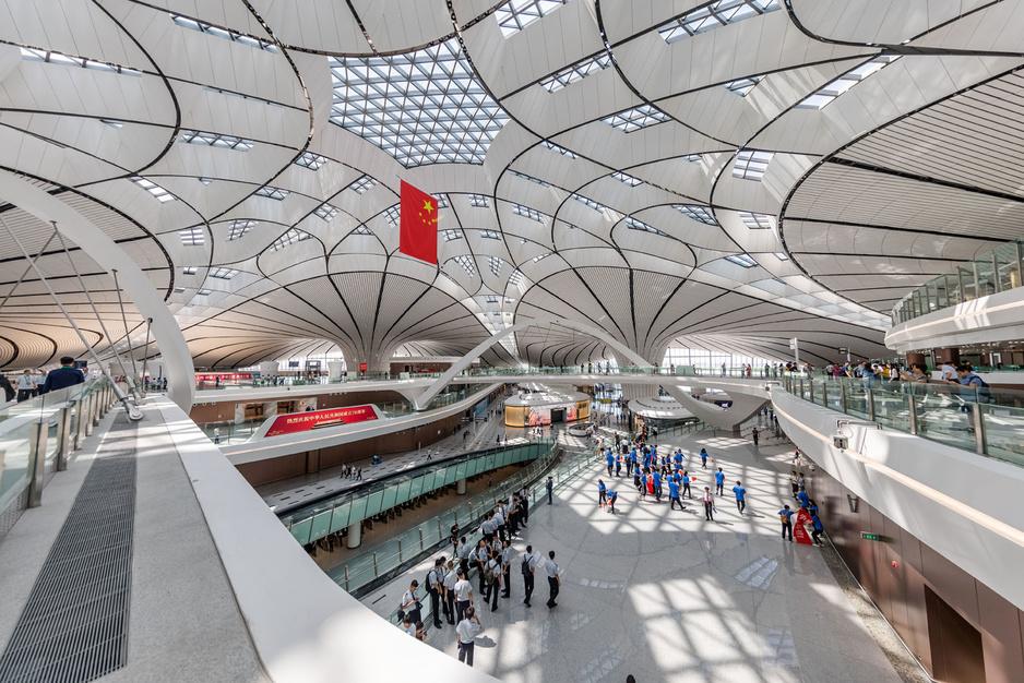 En images: le nouvel aéroport géant de Pékin, conçu par Zaha Hadid