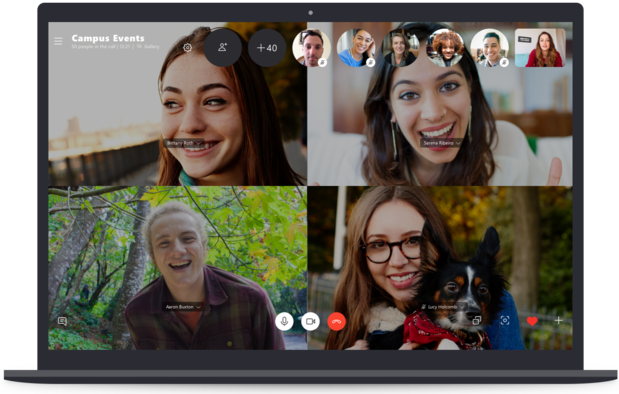Skype vous permet d'effectuer des vidéo-appels regroupant 50 personnes