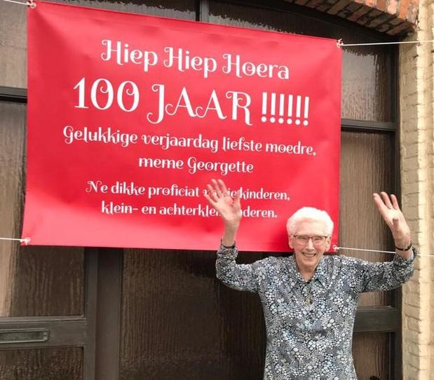 Georgette Vandepitte viert haar 100ste verjaardag zonder familie
