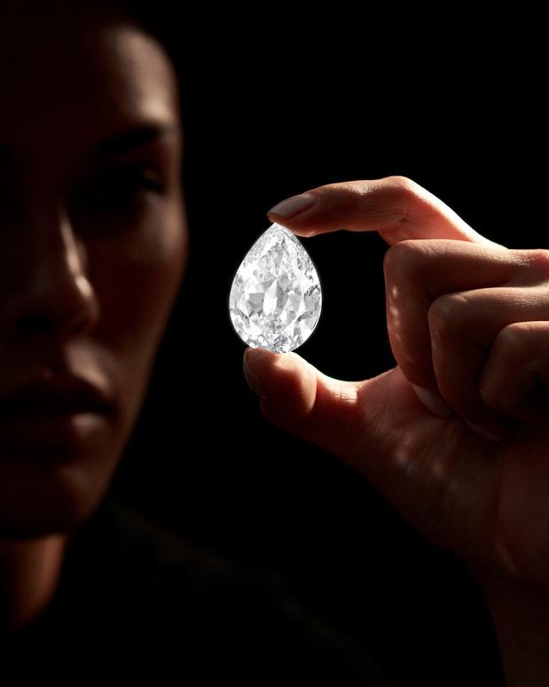 Diamant van 101 karaat geveild voor 12,3 miljoen dollar in cryptomunten