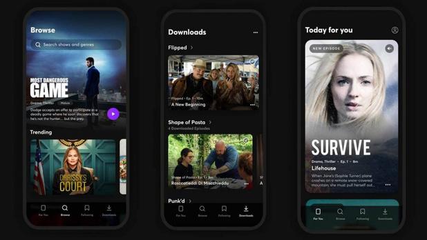 Lancement du service de diffusion mobile Quibi