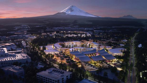 Toyota donne le coup d'envoi de sa ville connectée au pied du Mont Fuji