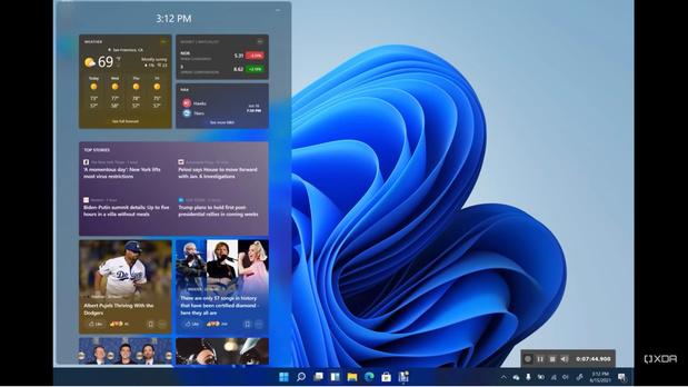 Les premières images et un 'build' de Windows 11 ont pris la clé des champs