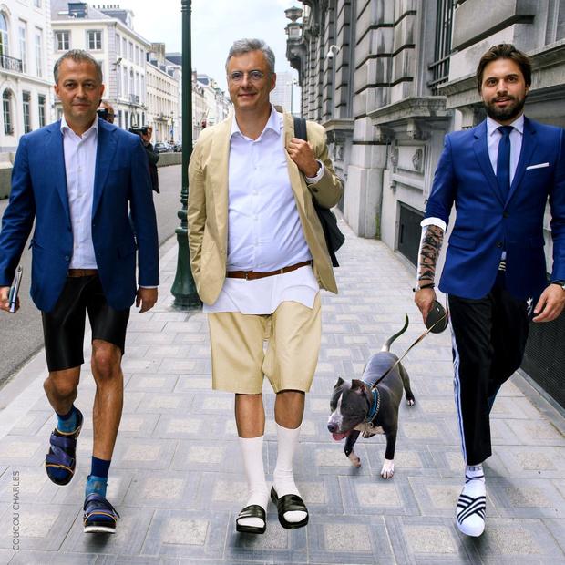 La photo du trio Bouchez-Coens-Lachaert détournée