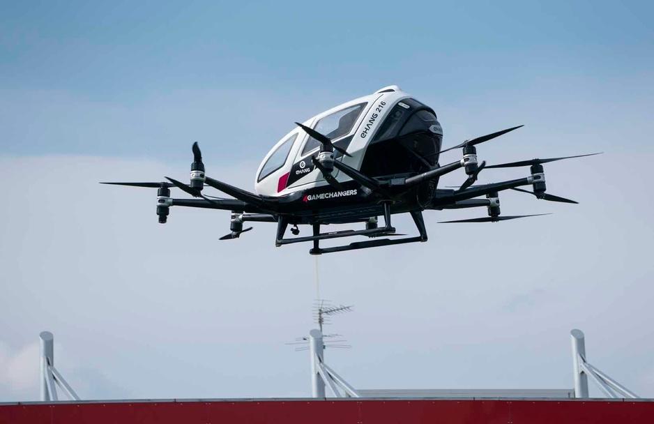 Première démonstration publique du taxi-drone chinois EHang, à Vienne (en images)