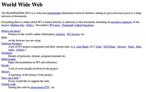 Le tout premier site web souffle aujourd'hui ses trente bougies