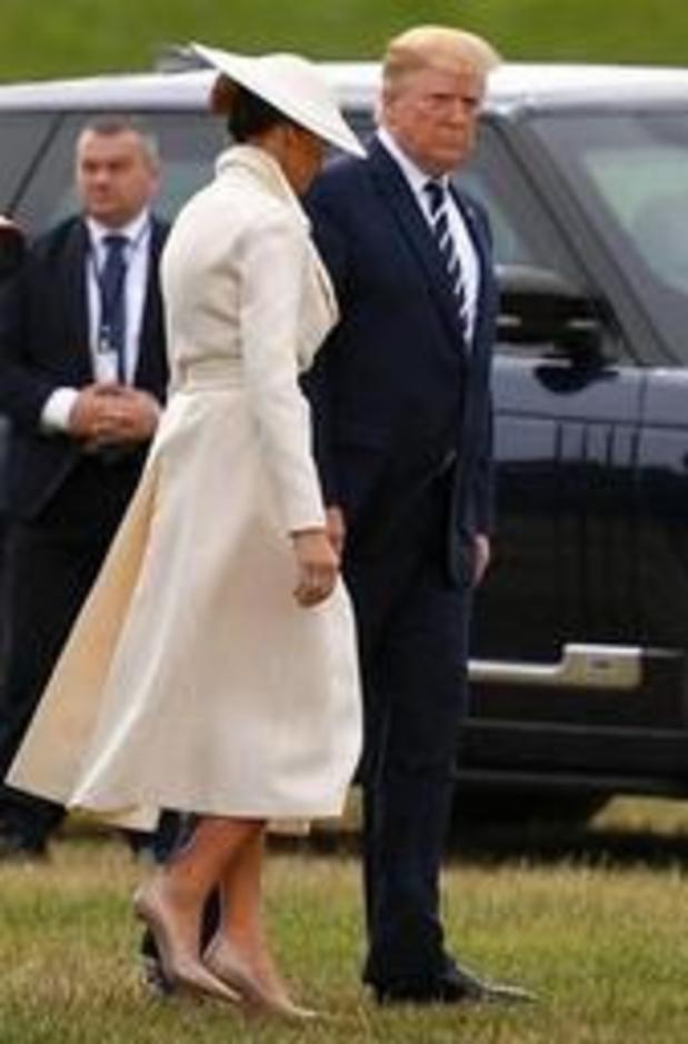 Trump in Portsmouth aangekomen voor herdenking D-Day
